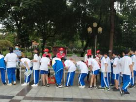 广州大学实验学校开展进校禁毒宣传活动