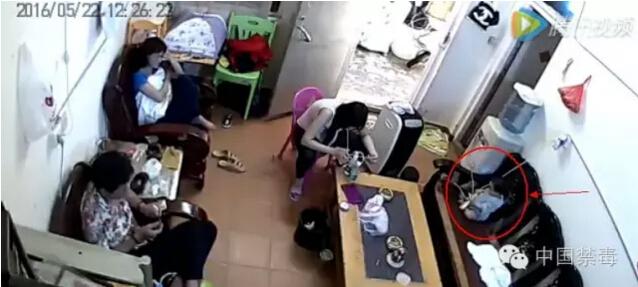 孩子吸冰毒