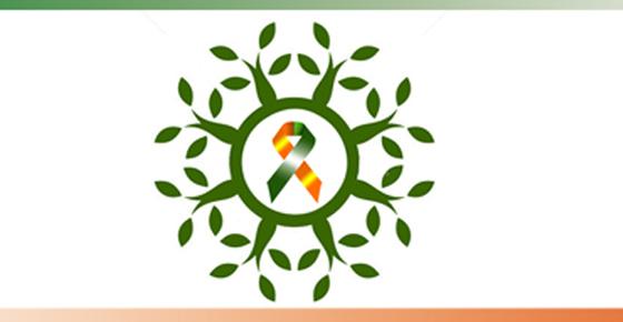 绿橙丝带标志